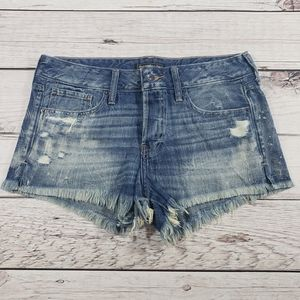 Abercrombie & Fitch womens distressed jean shorts